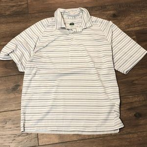 Striped golf shirt